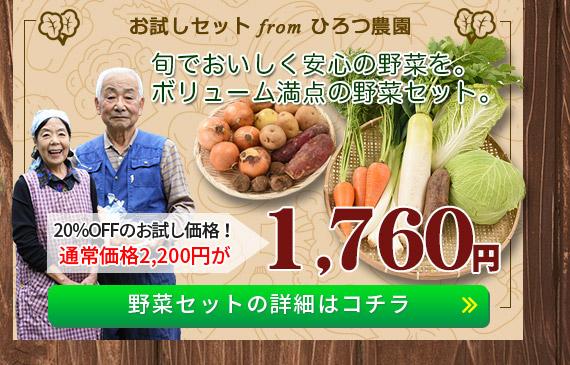 「安曇野ひろつ農園」野菜セットの詳細はコチラ